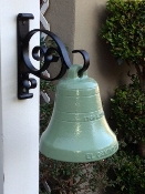 "5"" El Camino Real Bell with painted wrought iron bracket"